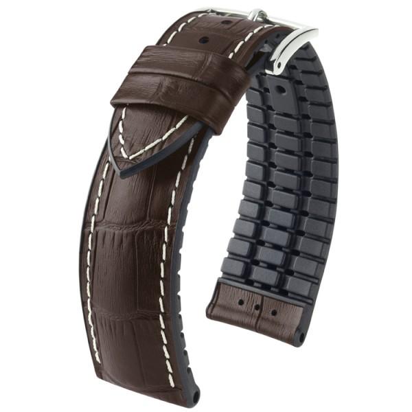 Hirsch horlogeband George L 20mm Donkerbruin