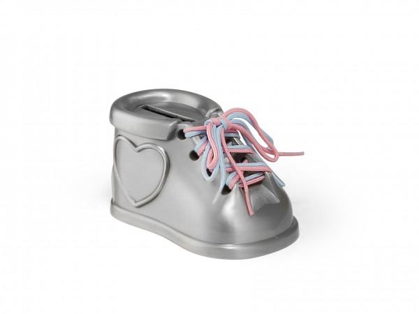 Zilverstad Spaarpot Babyschoentje - mat gelakt
