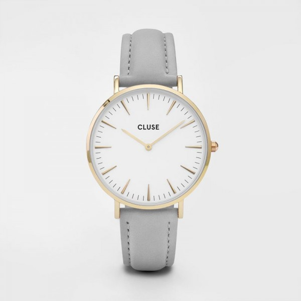 CLUSE LA BOHEME GOLD WHITE/GREY 38MM HORLOGE CL18414