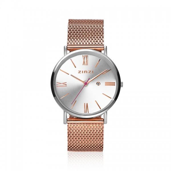 Zinzi Rosé Zilver Horloge 34 mm ZIW512MR
