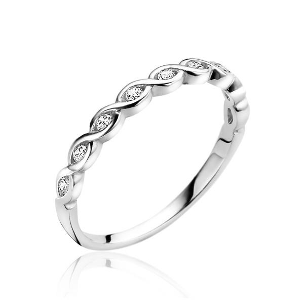 Zinzi Aanschuifring Dames Infinity ZIR1595-56 Zilver Zirkonia