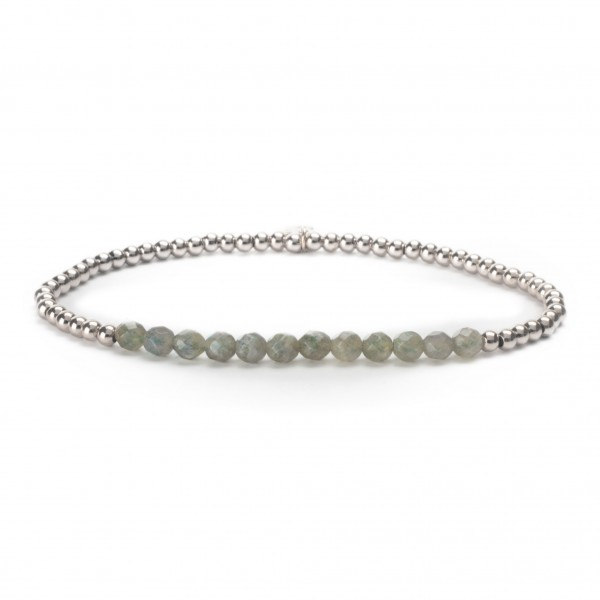 Sparkling Jewels Armband Universe SB-GEM18-3MM-LINE Labradorite 3 mm Small