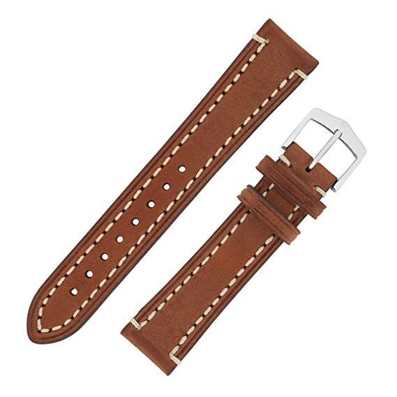 Hirsch Liberty Artisan Horlogeband 10900210-2-22 Bruin 22mm