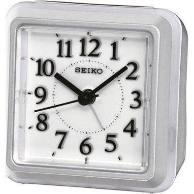 Seiko wekker - QHE090S - electronisch piep alarm - lichtgrijs kunststof
