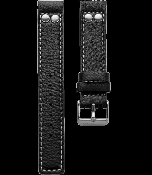 OOZOO losse horlogeband Zwart 22mm