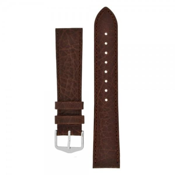 Hirsch Denver Horlogeband Unisex 18mm Donkerbruin