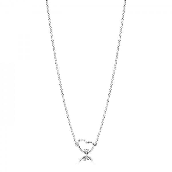 Pandora Heart of Love Collier Dames 397797CZ-45 Zilver Zirkonia
