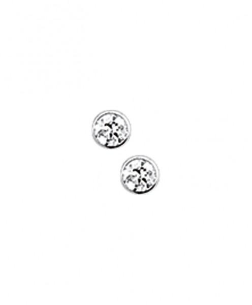 Zilveren Oorknopjes zirkonia - 2 mm