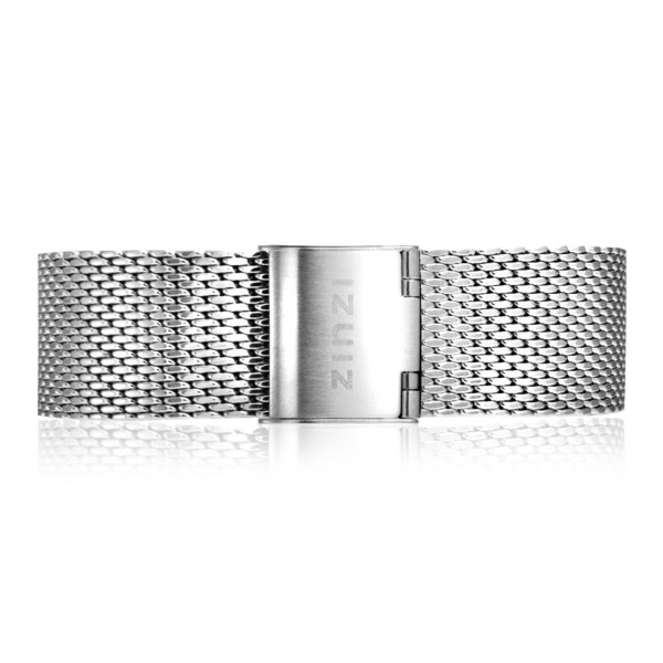 Zinzi Retro RETBAND1 stalen mesh horlogeband zilvergekleurd 18mm