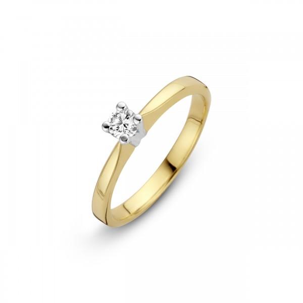 Briljant - Eternal Gouden Damesring 0,16crt Diamant