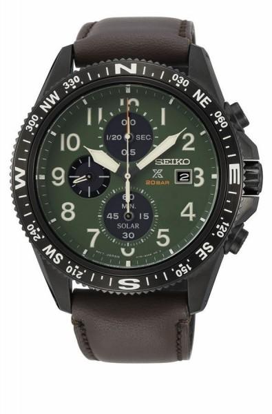 Seiko Prospex Chronograaf Solar Herenhorloge Quartz SSC739P1 Zwart Groen