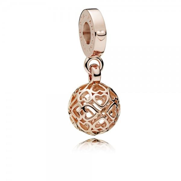 Pandora Harmonious Hearts Hangbedel 787255 Rosé Verguld Metaal