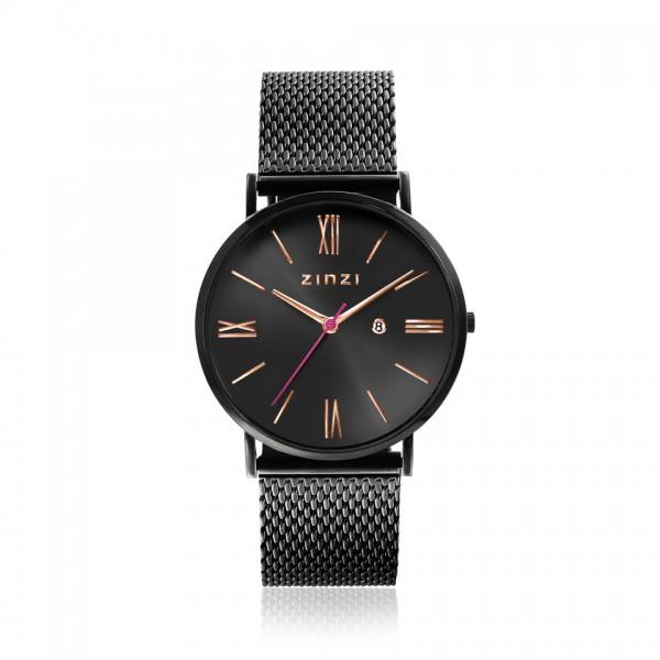 Zinzi Zwart Horloge 34 mm ZIW509M