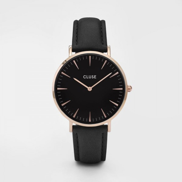 CLUSE LA BOHEME ROSE GOLD BLACK/BLACK 38MM HORLOGE CL18001