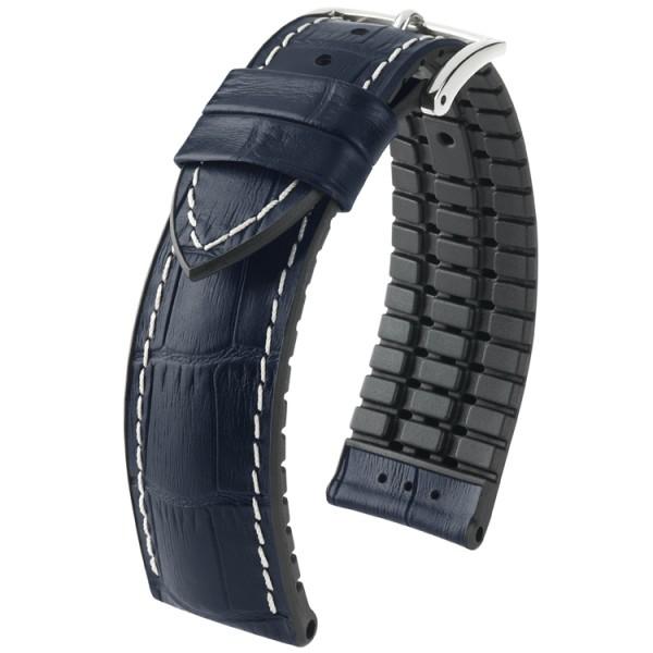 Hirsch horlogeband George 24mm Donkerblauw