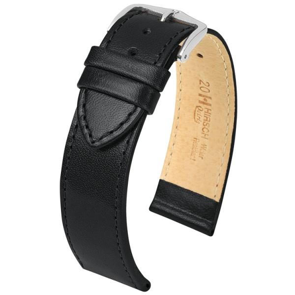 Hirsch horlogeband - OSIRIS Zwart 20mm