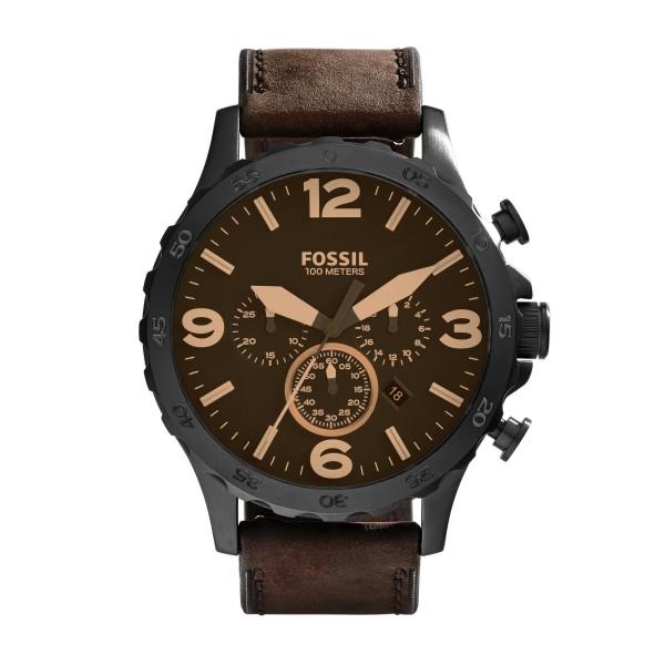 Fossil Bruin Zwart Horloge 50 mm JR1487