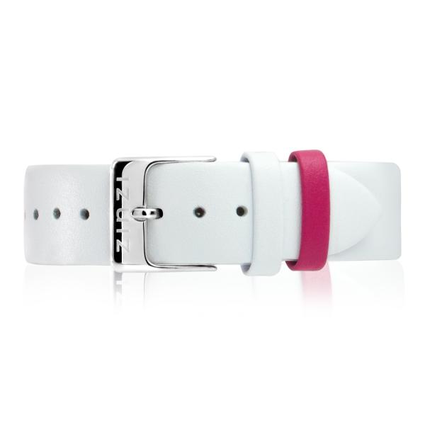 Zinzi Retro RETBAND18 leren horlogeband wit stalen sluiting 18mm