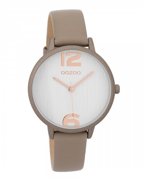 OOZOO Timepieces C9579 Taupe - Wit