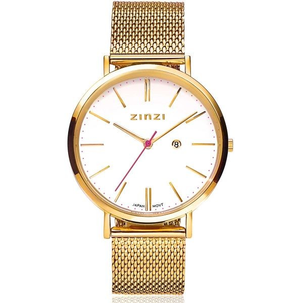 Zinzi - Retro // ZIW407M // Dameshorloge - Goudkleurig + Gratis Zinzi Armbandje