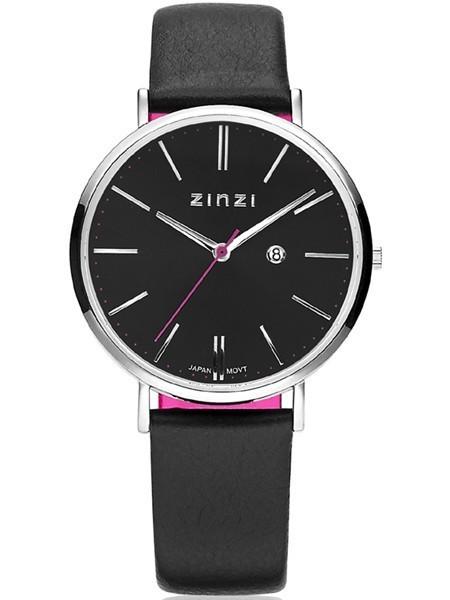 Zinzi Zwart Zilver Horloge 38 mm ZIW401