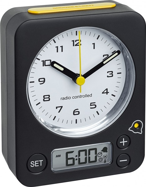 TFA Dostmann Radio Controlled Wekker 60.1511.01.07 Digitaal Analoog
