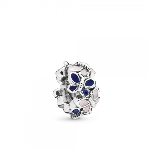 Pandora Moments Butterfly Bedel Dames 797870ENMX Zilver Emaille