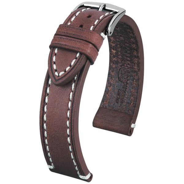Hirsch horlogeband - Liberty Artisan Bruin 20mm