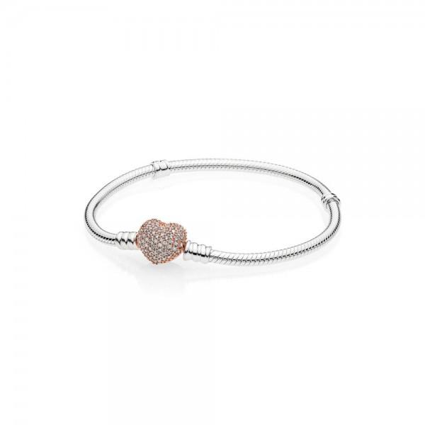 Pandora Moments Armband 586292CZ-19 Rosé Zilver Zirkonia